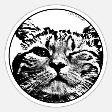 Stencil STENCIL WINK CAT (b) - Sticker