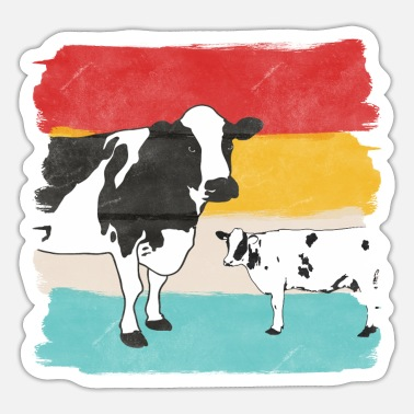 Cow Cow cows - Sticker