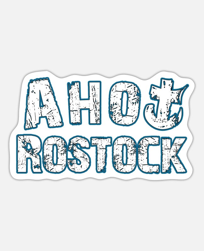 Home In Love Stickers - Ahoy Rostock | Yolo Artwork - Sticker white mat
