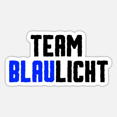 Blue Light Team blue light - Sticker