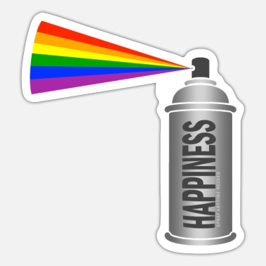 Happiness Happiness Spray Rainbow - Pegatina