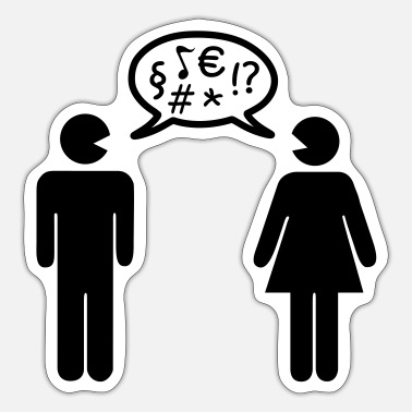 Conflict Conflict couple - Sticker