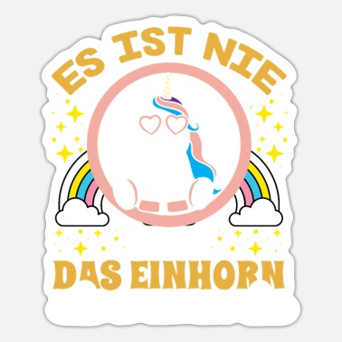 Sadlen Unicorn T-Shirt Det er aldrig for sent at sadle - Sticker