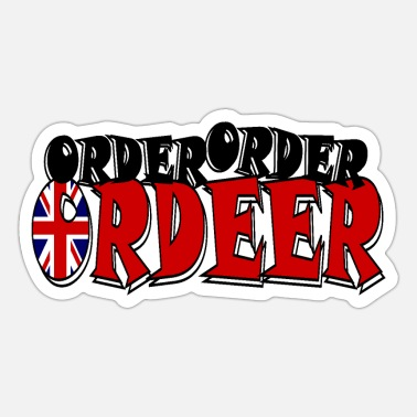 Ordet UK Order Order Ordeer - Sticker