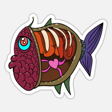 Anatomy Fish anatomy - Sticker