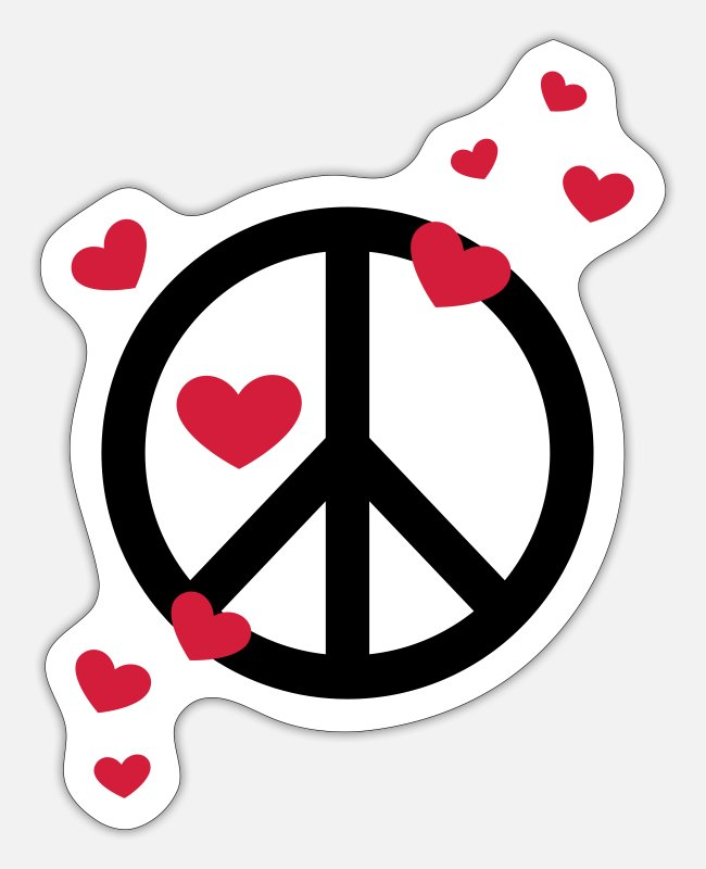 Fridays For Future Sticker - Peace Frieden Herz Liebe Freiheit Symbol Hippie - Sticker Mattweiß