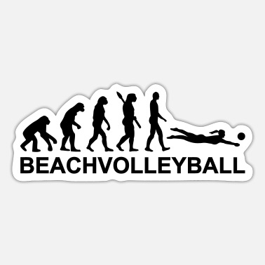Beachvolleyball Evolution Beachvolleyball - Sticker