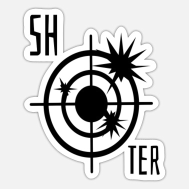 Shooter Shooter mit Fadenkreuz - Sticker