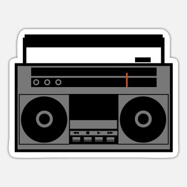 Boom Box Boom Box color (vector) - Sticker