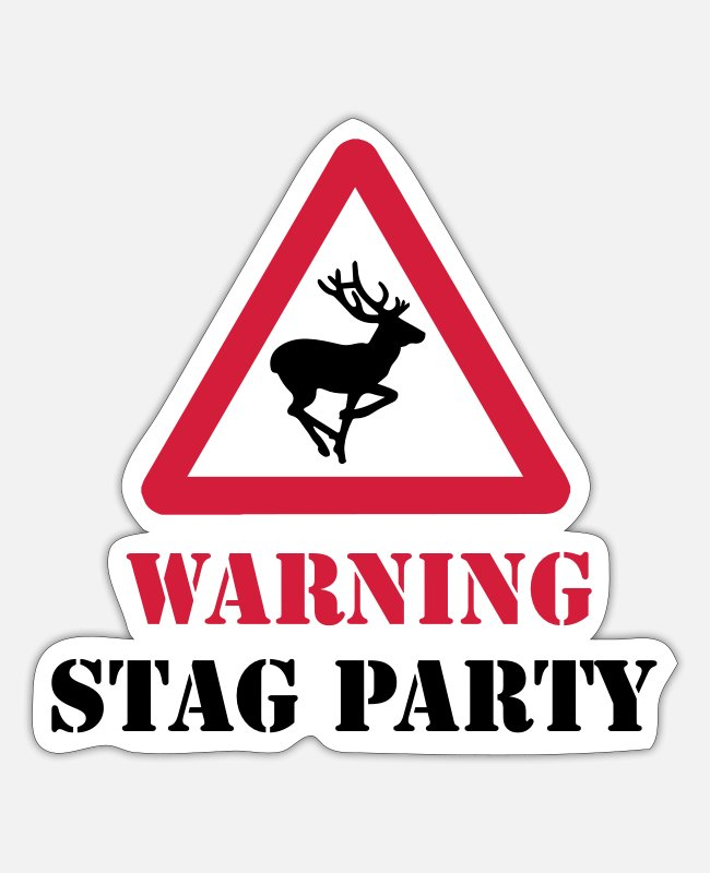 Stag Stickers - Stag Party - Sticker white mat