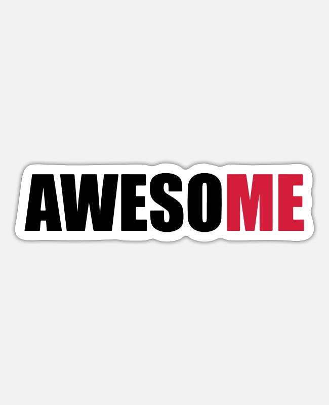 Proud Stickers - AwesoME - Sticker white matte