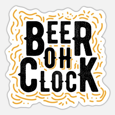 Clock Bier oh Clock - Sticker