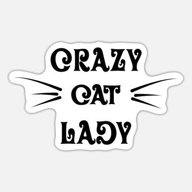 Cat Lady Crazy Cat Lady - Sticker