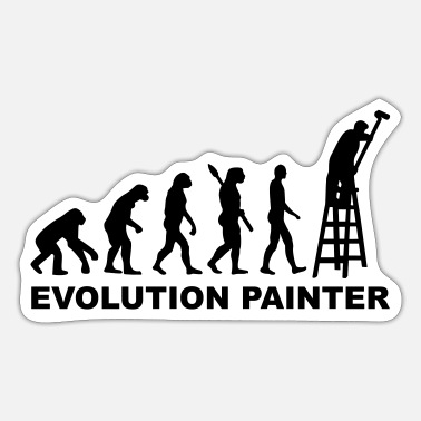 Painter Evolution Painter - Sticker