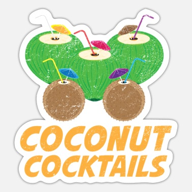 Coconut Fruit Coconut cocktail drinks fruits - Sticker