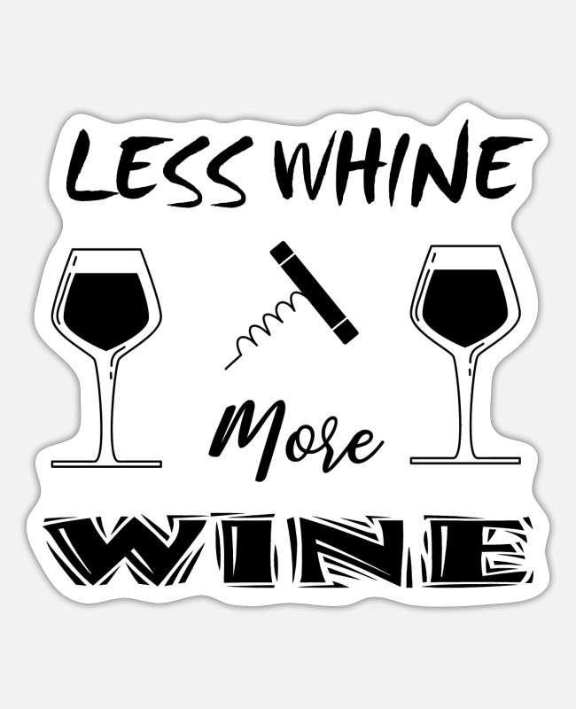 Wine Stickers - Wine - Sticker white mat