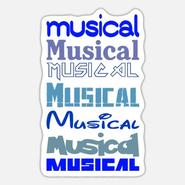 Music Musical Musical Musical - Sticker