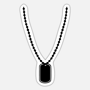 Tag Dog tag - Naklejka