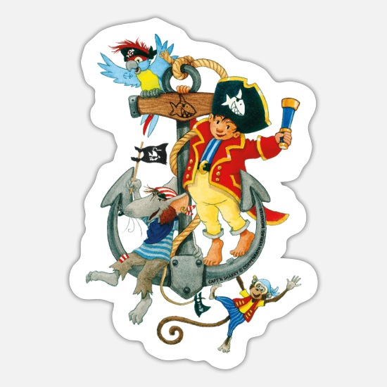 Käpt/'n Sharky Piratenkapitän Sticker