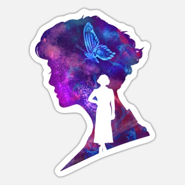 Fantastic Beasts Queenie Goldstein Silhouette - Sticker