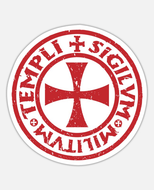 Sparta Stickers - Crusader Knight Christianity Christian Crusade - Sticker white mat