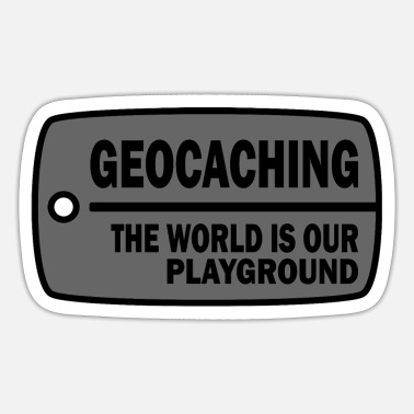 Tb Geocaching - The World is our Playground - Sticker