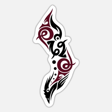 Tribal Tribal vogel - Sticker