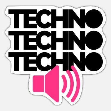 Techno Techno Speaker - Sticker
