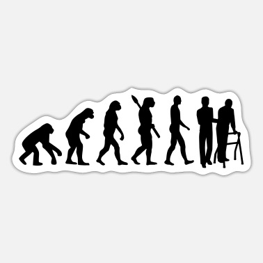 Elderly Evolution Carer for the elderly - Sticker