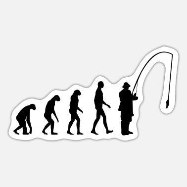 Evolution Fish Evolution fishing - Sticker