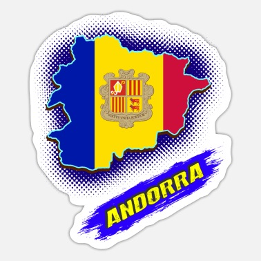 Countrymusic Andorra La Vella dwarf principality Europe - Sticker