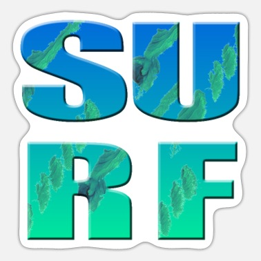 Surfing Surf - surfing - Sticker