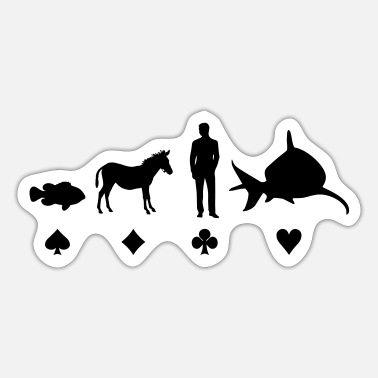 Evolution Fish Evolution Poker - Sticker