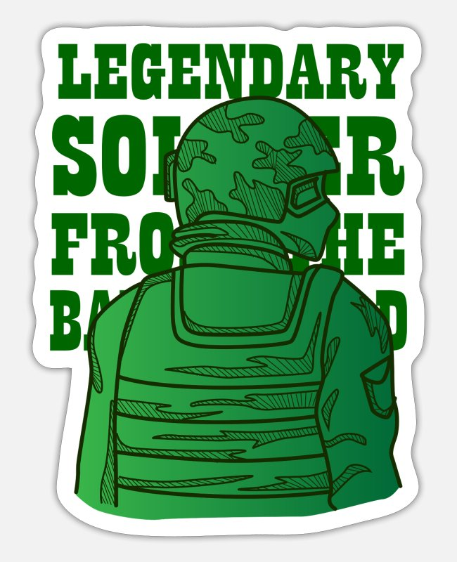 Soldier Stickers - Legendary soldier shirt for your bravery - Sticker white matte