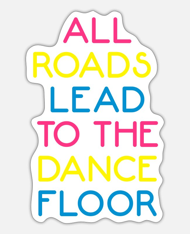 Hardstyle Stickers - The Dance Floor - Sticker white mat