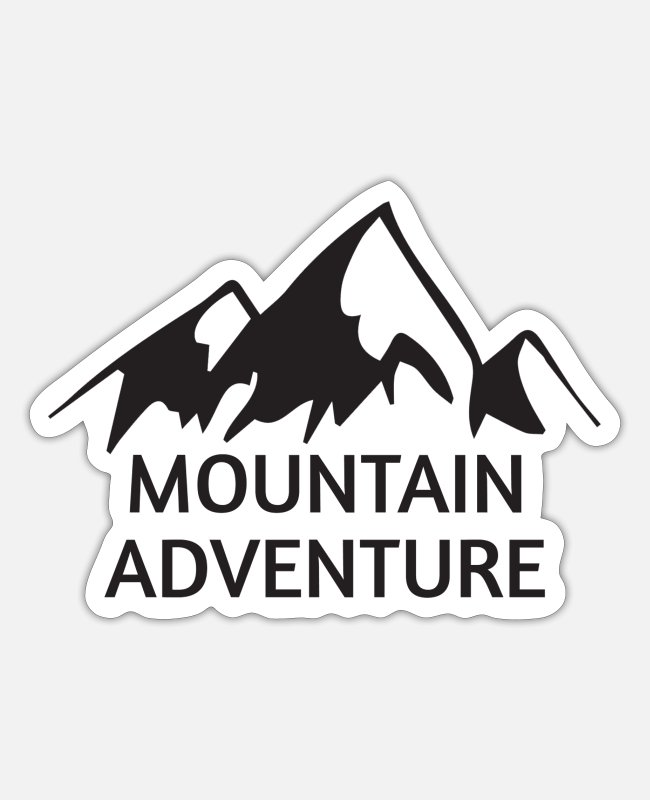 Travel Stickers - Mountain Adventure - Sticker mat wit