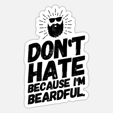 Bearded Beard Bearded Beardful Funny Sayings Beardful - Sticker