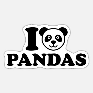 Panda I love Pandas - Sticker
