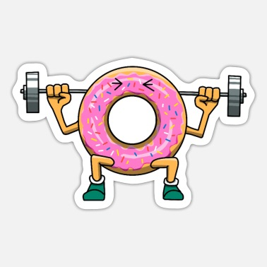 Fitness Donut Training Gym Fitness Gym Squat - Autocollant
