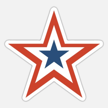 Stars And Stripes 4th of july stars and stripes star - Sticker