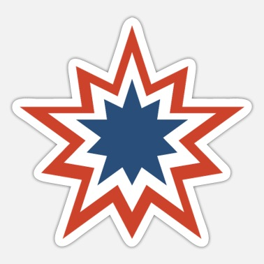 Stars And Stripes 4 juli Stars and Stripes double star - Sticker