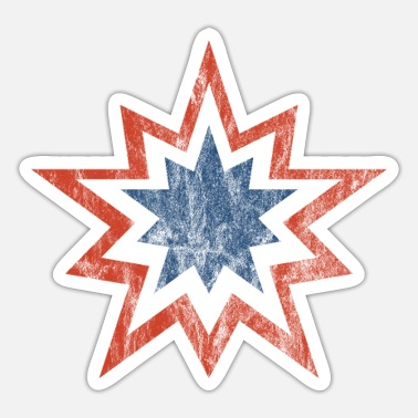 Stars And Stripes 4. juli Stars and Stripes double star vintage - Sticker