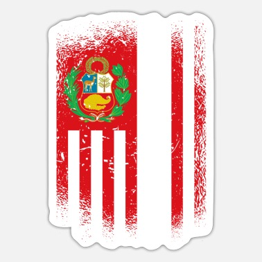 Cusco Peru Flag / Gift Lima - Sticker