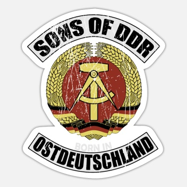East Germany Sons of DDR East Germany Ostalgia - Sticker