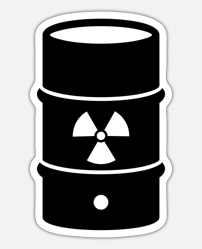 Nuclear Power Stickers - Nuclear waste - Sticker white mat