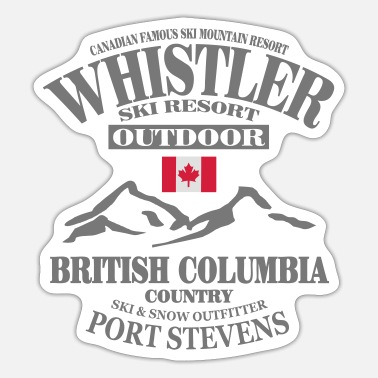 Ski Resort Whistler Ski Resort - Canada - Sticker