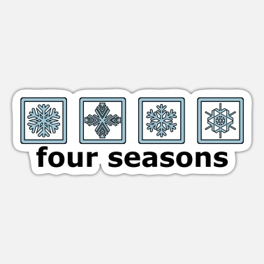 Pictograph The 4 winter times - Sticker