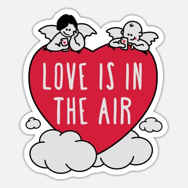 valentine - love is in the air 3c - Sticker