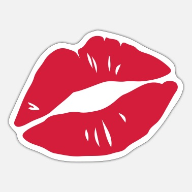 Kissing Lips Kissing Lips, Valentines Day, Love, Kiss, Mouth - Sticker