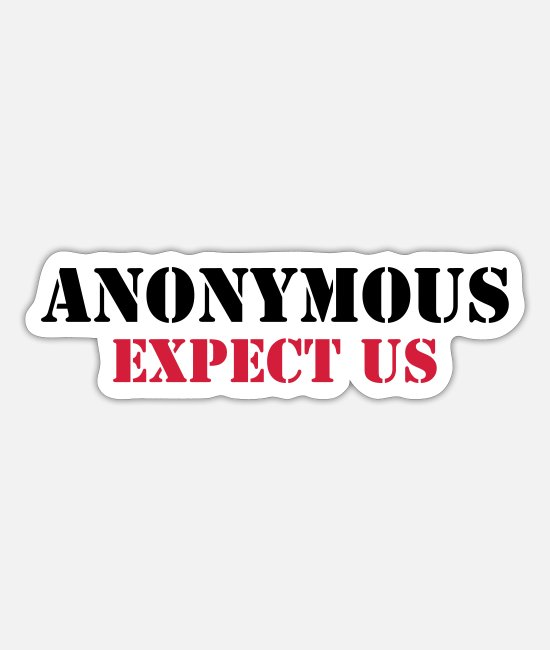 Spel Stickers - Anonymous : Expect us - Sticker mat wit